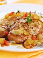 Receta de pollo al ajillo con salsa de almendras