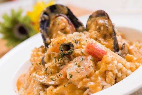 Receta de arroz con bogavante y berberechos
