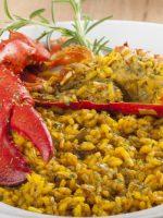 Receta de arroz con bogavante y pollo