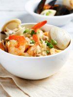 Receta de arroz con bogavante y pulpo