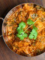 Receta de pollo al curry con espinacas