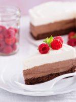 Receta de tarta tres chocolates sin nata