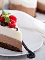 Receta de tarta tres chocolates al microondas