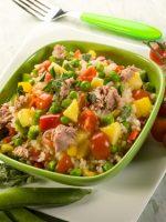 Receta de ensalada de arroz y piña