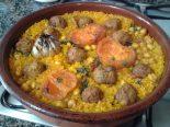 Receta de arroz al horno con albóndigas