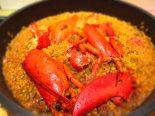 Receta de arroz con bogavante y buey de mar
