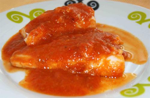 Receta de bacalao con tomate al horno