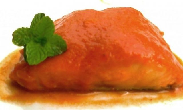 Receta de bacalao con tomate al microondas
