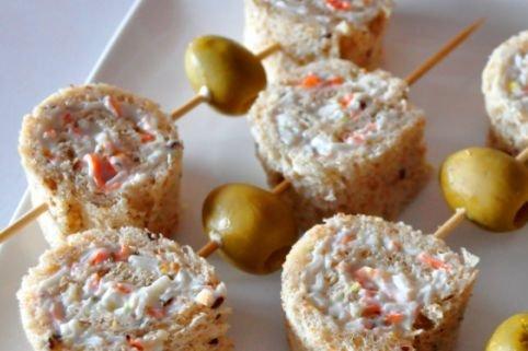 Receta de canapés con pan de molde