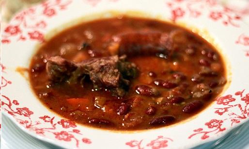 Receta de fabada asturiana con fabes rojas