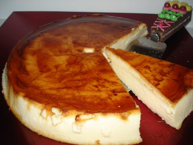 Receta de flan de queso philadelphia