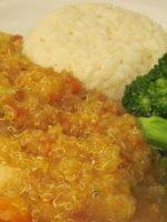 Receta de guiso de arroz integral con quinoa y verdura