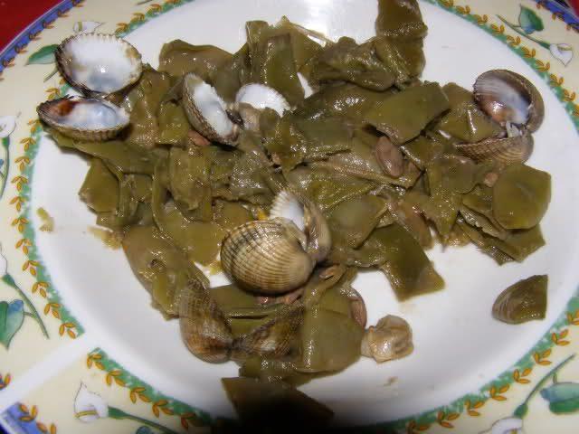 Receta de judías verdes con almejas
