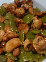 Receta de judías verdes con champiñones