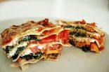 Receta de lasaña vegetal