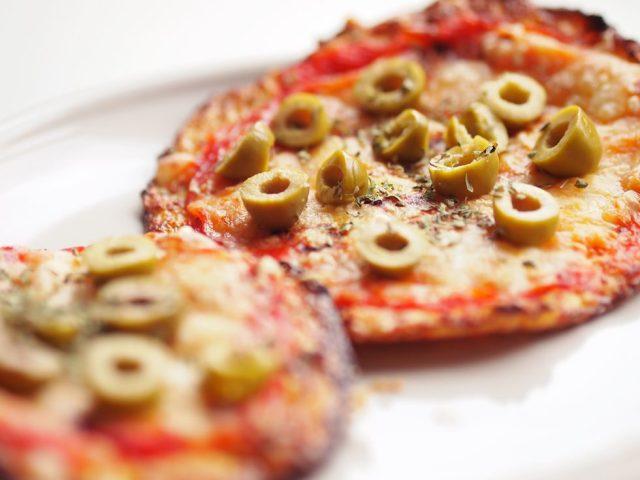 Receta de pizza de coliflor