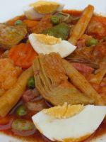 Receta de menestra de verduras con salsa de tomate