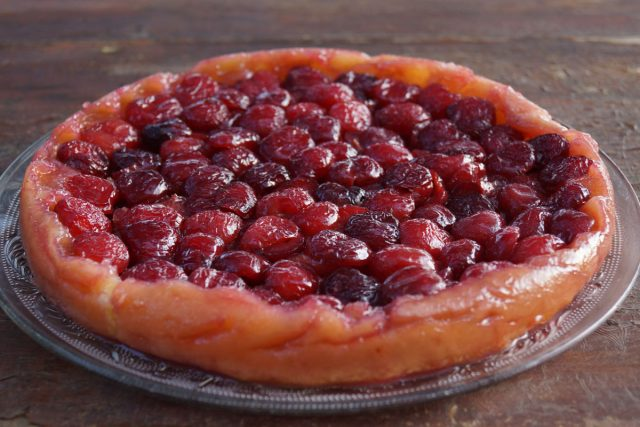 Receta de tarta tatin de cerezas