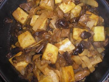 Receta de tofu con setas