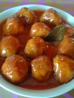 Receta de albóndigas en salsa agridulce