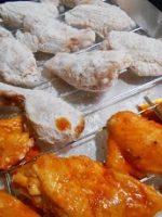Alitas de pollo rebozadas al horno