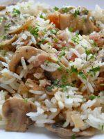 Receta de arroz blanco con champiñones