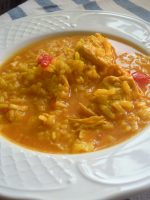 Receta de arroz con pollo caldoso