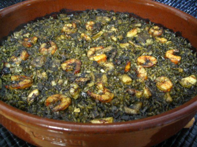 Receta de arroz negro al horno