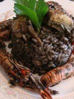 Receta de arroz negro con verduras
