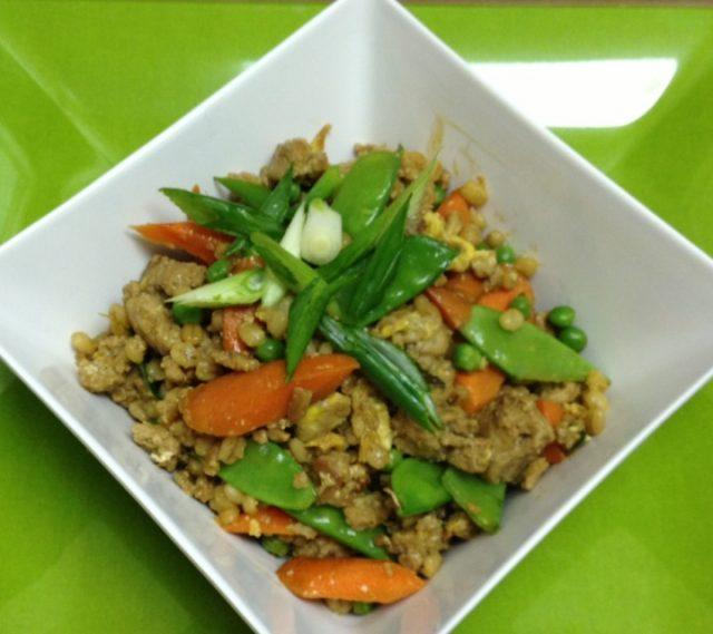Receta de arroz tres delicias con pavo