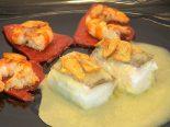 Receta de bacalao al pil pil con pimientos
