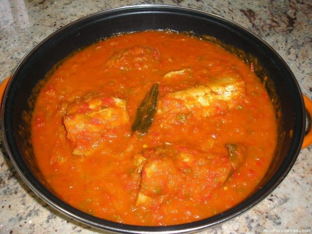 Receta de bacalao con tomate thermomix