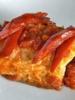 Receta de bacalao con tomate y pimientos
