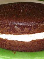 Receta de bizcocho de chocolate relleno