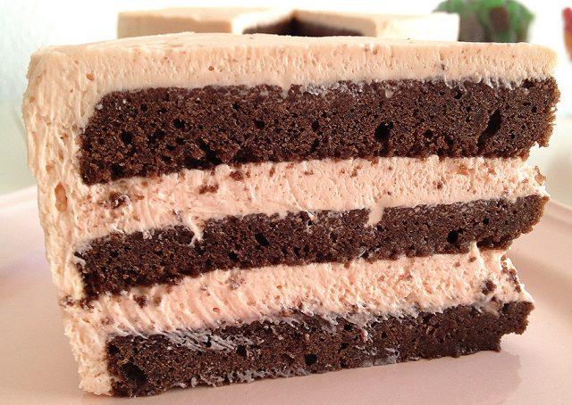 Receta de bizcocho de chocolate relleno de tres chocolates