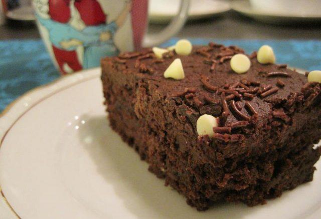 Receta de bizcocho de chocolate y calabacin