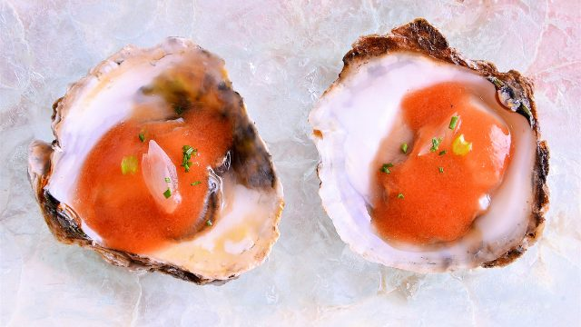 Receta de bloody mary con ostras