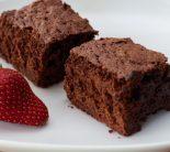 Receta de brownie con fresa