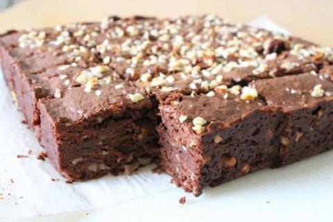 Receta de brownie con nata