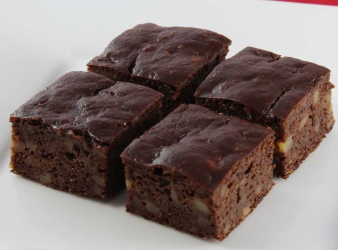 Receta de brownie y nueces