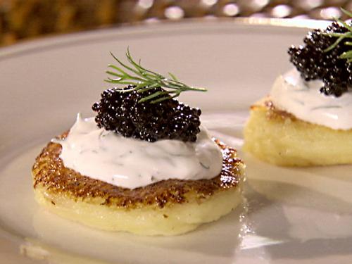 Receta de canapés de caviar