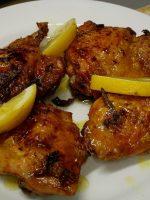 Receta de contramuslos de pollo al horno al limón