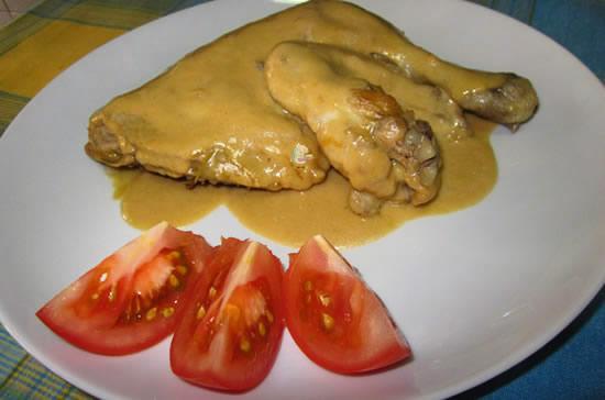 Receta de contramuslo de pollo al horno con salsa verde - Salsas para el pollo al horno ...