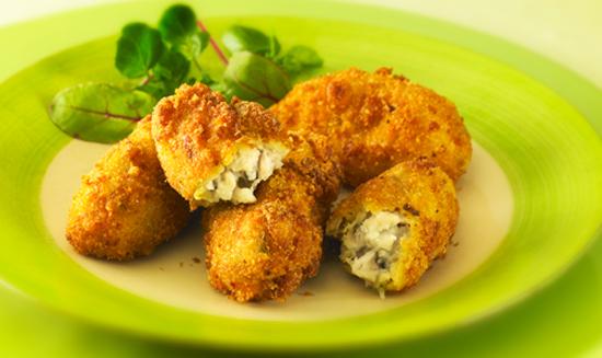 Receta de croquetas de pollo al curry