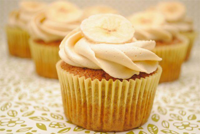 Receta de cupcakes de plátano