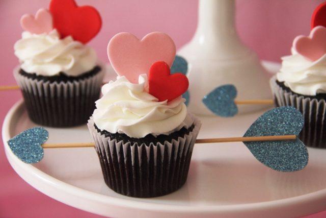 Receta de cupcakes de san valentín