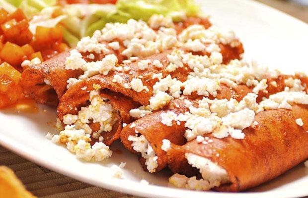 Receta de enchilada de queso