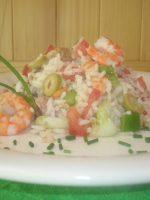 Receta de ensalada de arroz con camarones