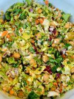 Receta de ensalada de garbanzos con arroz