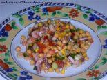Receta de ensalada de garbanzos con pulpo